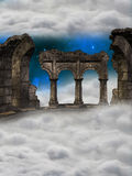 Ruin in the sky Stock Photos