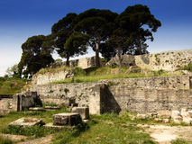 Ruin of the small roman amphitheatre in Pula,Croatia Royalty Free Stock Image