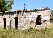 Ruin in a Spainsh ghost town Royalty Free Stock Images