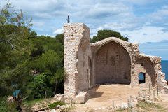 Ruin of Spanish church in Tossa de Mar Stock Image