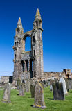 Ruin of St. Andrews cathedral Stock Photos