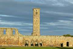 Ruin of St Andrews Cathedral in St Andrews Stock Images