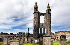 Ruin of St Andrews Cathedral in St Andrews Scotland Stock Photo
