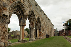 Ruin of St Andrews Cathedral in St Andrews Scotland stock images