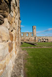 Ruin of St. Andrews. Wall of the ruins of St. Andrews in Scotland royalty free stock image