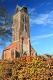 Ruin of St. Mary church in Wismar. Germany Royalty Free Stock Photography