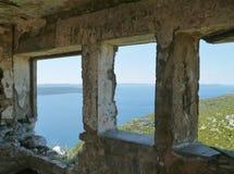 Ruin of St Michael castle on Ugljan Royalty Free Stock Photos