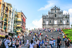 Ruin of St. Pual's church. Macau - July,31 2010 : Ruin of St. Pual's church was considered as the greatest church in Macua stock image