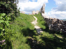 Ruin Staatz. Fortification of the castle ruins Staatz. One of the last vestiges Stock Images
