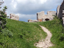 Ruin Staatz. Fortification of the castle ruins Staatz. One of the last vestiges Stock Image