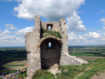 Ruin Staatz. Fortification of the castle ruins Staatz. One of the last vestiges Stock Photography