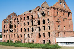Ruin after Stalingrad battle Stock Photography