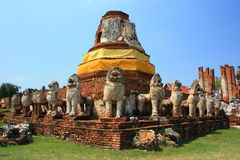 Ruin Stupa in Ayutthaya Thailand Stock Photo