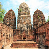 Ruin in Sukhothai historical park Royalty Free Stock Photo