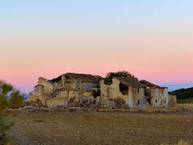 Ruin in the sunset Royalty Free Stock Images