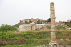 the ruin of Temple of Artemis Stock Photography