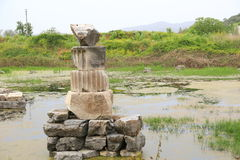 The ruin of Temple of Artemis Stock Photos