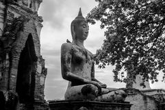 The ruin temple in ayutthaya Stock Photography