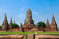 Ruin temple in Ayutthaya historical park Stock Images