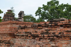 The ruin temple in ayutthaya Royalty Free Stock Image