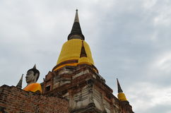 The ruin temple in ayutthaya Stock Image