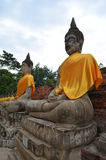 The ruin temple in ayutthaya Stock Photos