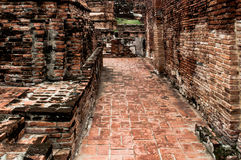 The ruin temple in ayutthaya Royalty Free Stock Images