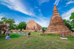 Ruin temple in ayutthaya, thailand royalty free stock image