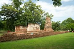 Ruin in the temple complex What Maha That in Ayutthaya Stock Photo