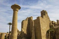 Ruin of temple Egypt. Ruin of temple Karnak Luxor Egypt stock photo