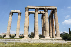Ruin of the temple of Olympian Zeus in Athens, Greece Royalty Free Stock Photography