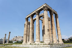 Ruin of the temple of Olympian Zeus in Athens, Greece Stock Image