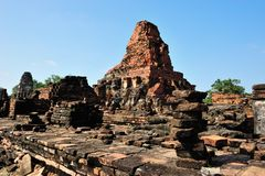 Ruin temple in Sukhothai Royalty Free Stock Photo