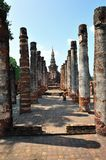 Ruin temple in Sukhothai Royalty Free Stock Photos