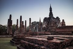 Ruin temple at Sukhothai Historical Park Stock Photography
