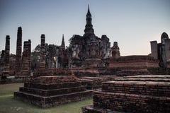 Ruin temple at Sukhothai Historical Park Stock Photo