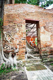 Ruin temple at Wat Khun Inthapramun of Angthong Province Thailand Royalty Free Stock Photography