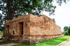 Ruin temple at Wat Khun Inthapramun of Angthong Province Thailand Stock Photos