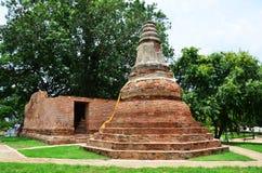 Ruin temple at Wat Khun Inthapramun of Angthong Province Thailand Royalty Free Stock Photo