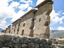 Ruin of the Temple of Wiracocha Raqchi. Temple of Viracocha Royalty Free Stock Photography