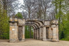 Ruin Theatre in Garden, Bayreuth, Germany. Ruin Theatre in Hermitage garden, Bayreuth, Germany Royalty Free Stock Photo