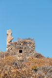 Ruin at the top of Monemvasia Stock Photo