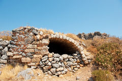 Ruin at the top of Monemvasia Royalty Free Stock Photography