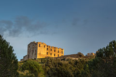 Ruin at Torre Mozza near Argentella in Corsica Royalty Free Stock Image