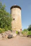 Ruin tower Burg Lowenstein. Royalty Free Stock Image
