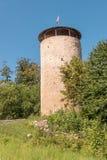 Ruin tower Burg Lowenstein. Stock Photography