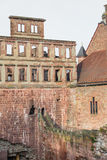 The ruin tower of Heidelberg castle in Heidelberg Royalty Free Stock Photography