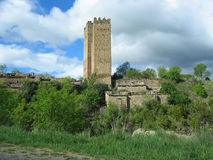 Ruin of a Tower in Spain Royalty Free Stock Photography