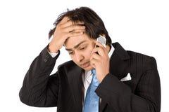Ruin and unhappy with call Stock Photos