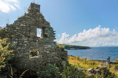 Ruin on Valentia Iceland Stock Image